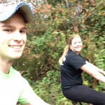 Riding down the swamp rabbit trail! Moving selfies are difficult.