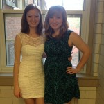 My favorite picture of the moment- my roommate and I all gussied up for semiformal! <3