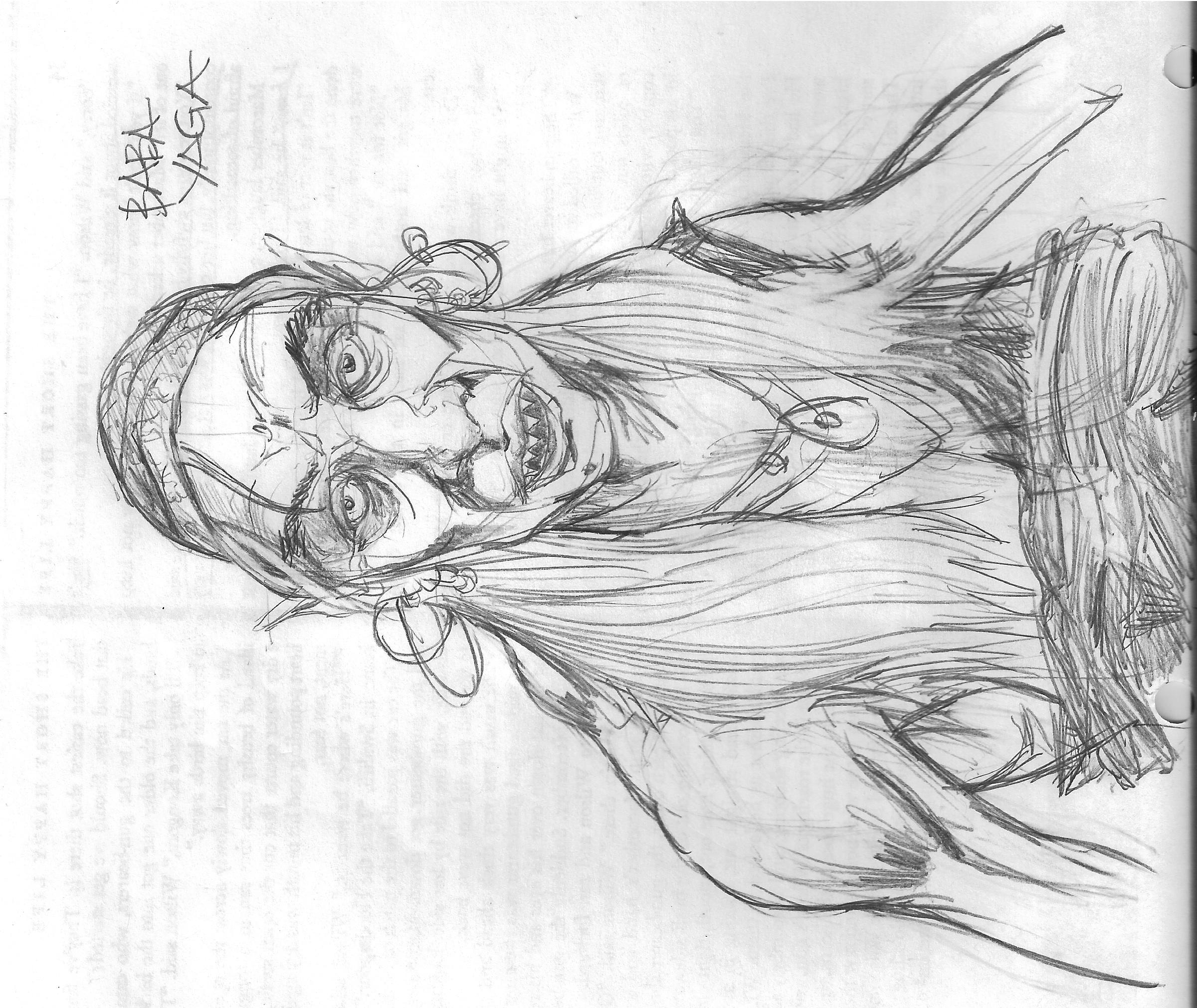 Baba Yaga Sketch 1