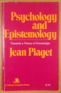 """The Center houses a 1972 copy of Piaget's book. Piaget admits in the interview, """"I have taken epistemology away from philosophy but I have not taken it only for psychology. It belongs in all of the sciences."""""""