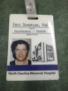 Schopler's ID card