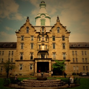 The welcoming entrance to the Trans Allegheny Lunatic Asylum