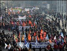 Grève à Lyon.