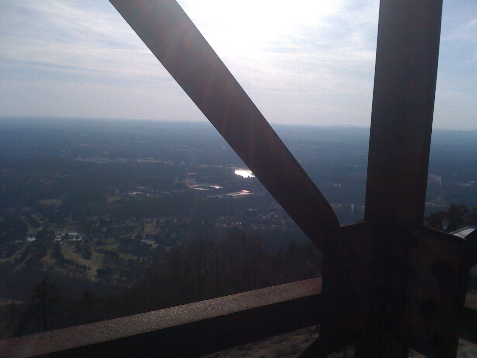 la vue du summet de la montagne!