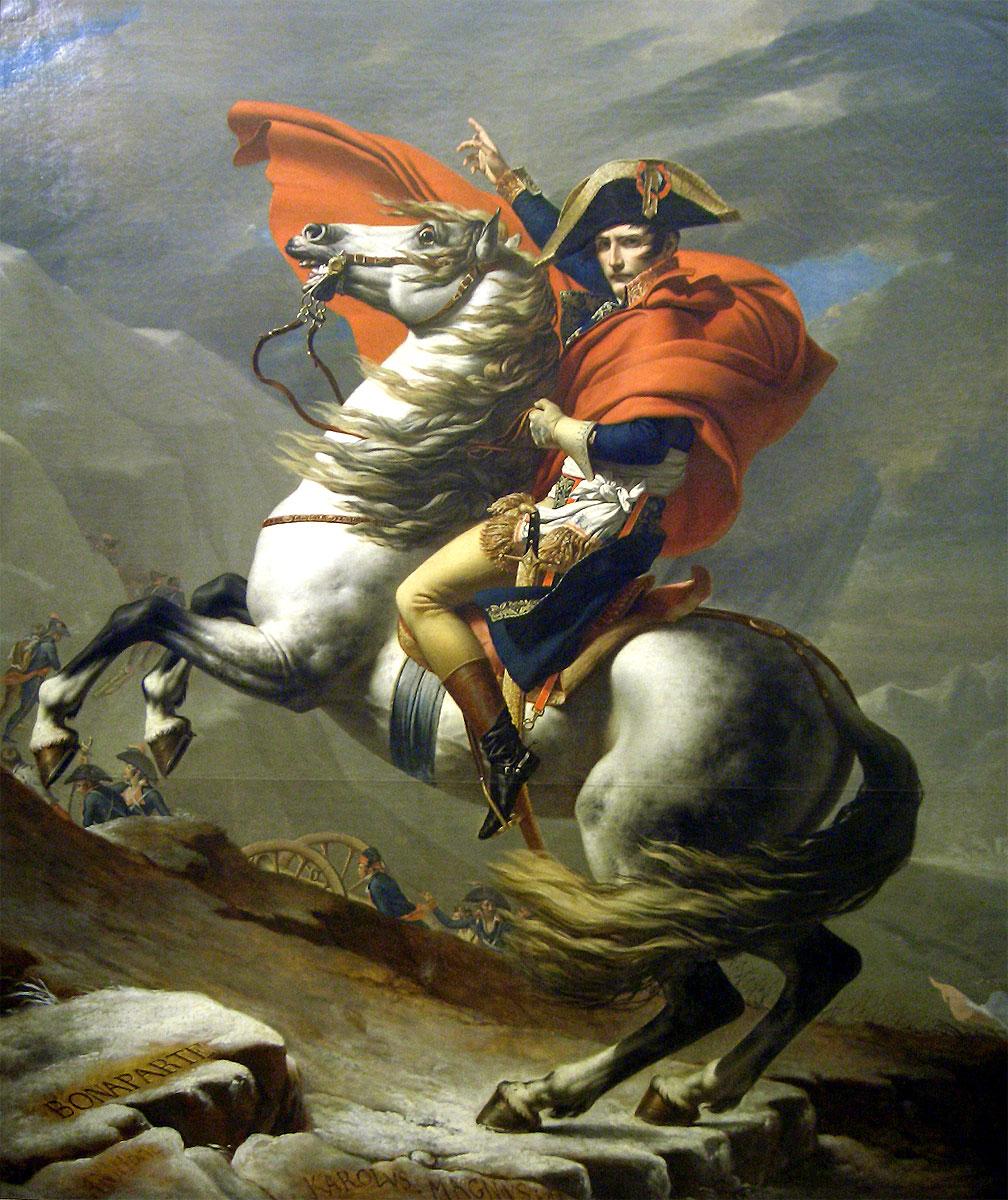 <<Bonaparte franchissant le Grand-Saint-Bernard>>