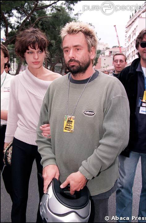 Luc Besson et sa deuxieme femme, Milla Jovovich