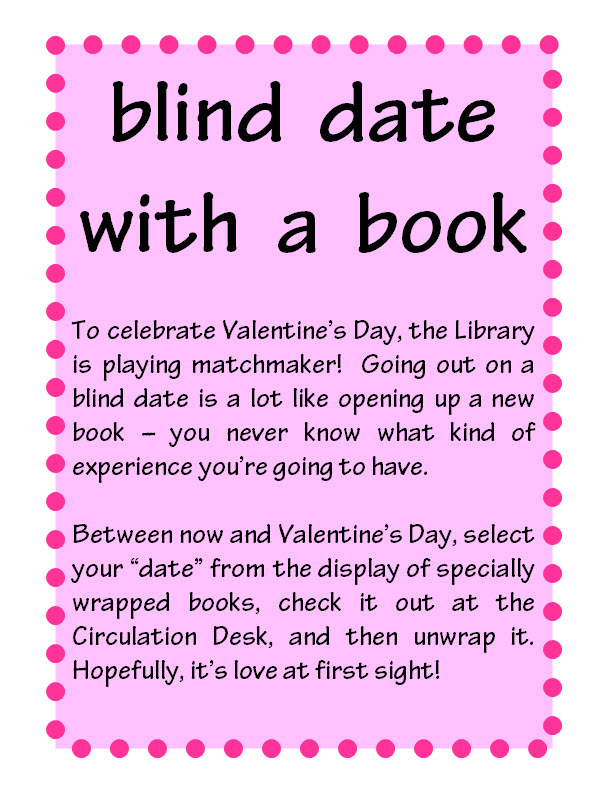 Blind Date With A Book | Furman Library News | Furman ...