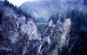 View of Eichelsbacher Bridge in Bavaria, Germany.