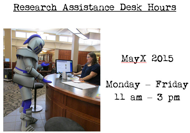 Research Assistance Desk Hours