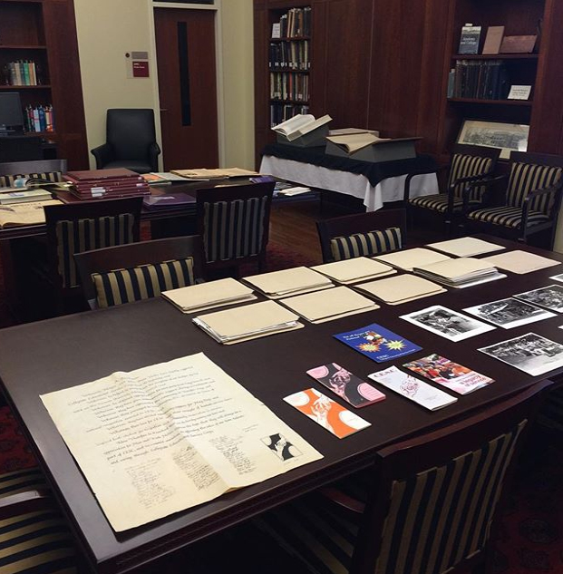 Papers and books in Special Collections