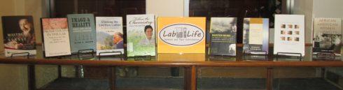book display in Sanders Science Library