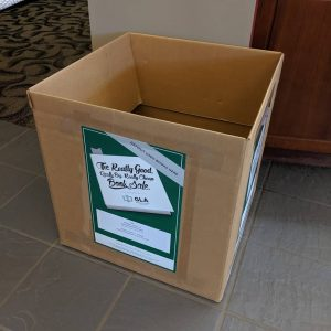 Donation box for Greenville Literacy