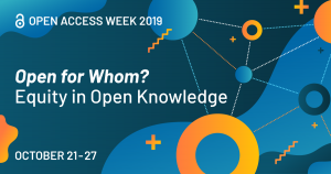 Open Access Week decorative graphic