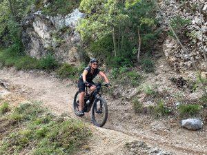 Caroline mountain biking