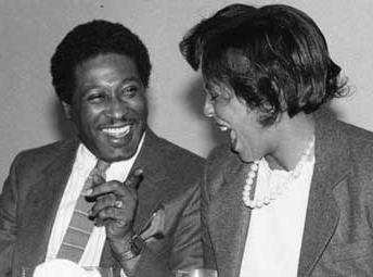 Joseph Vaughn and Lillian Brock Fleming share a laugh