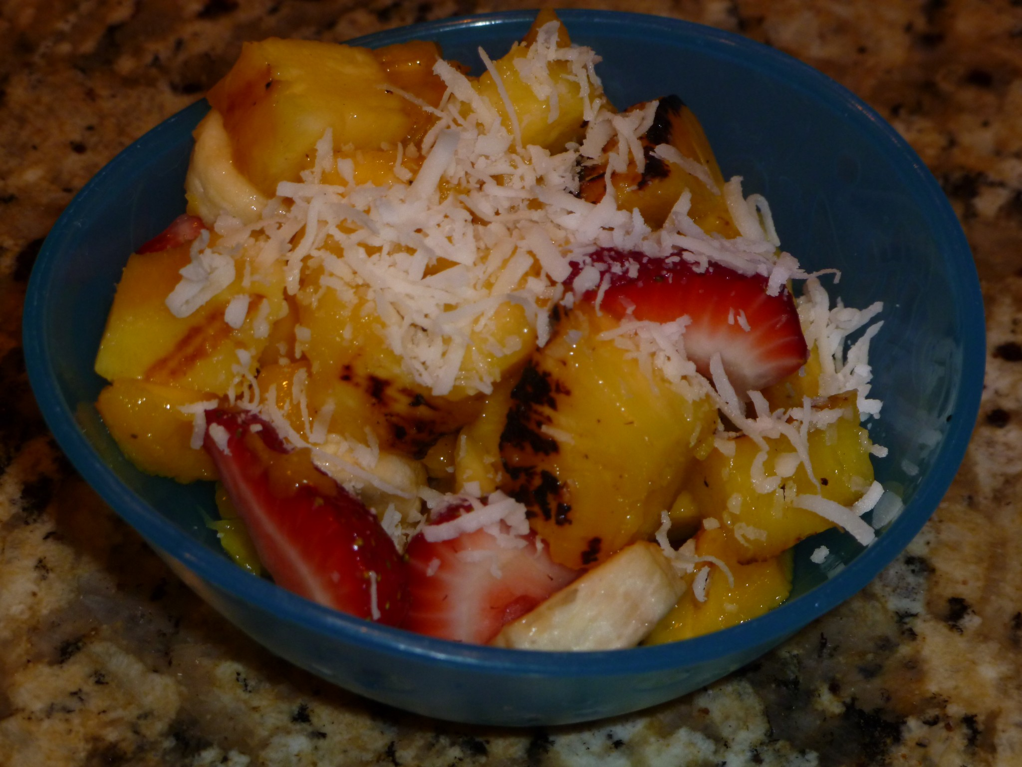 Grilled Pineapple Fruit Salad with Coconut | Live Well Furman | Furman ...