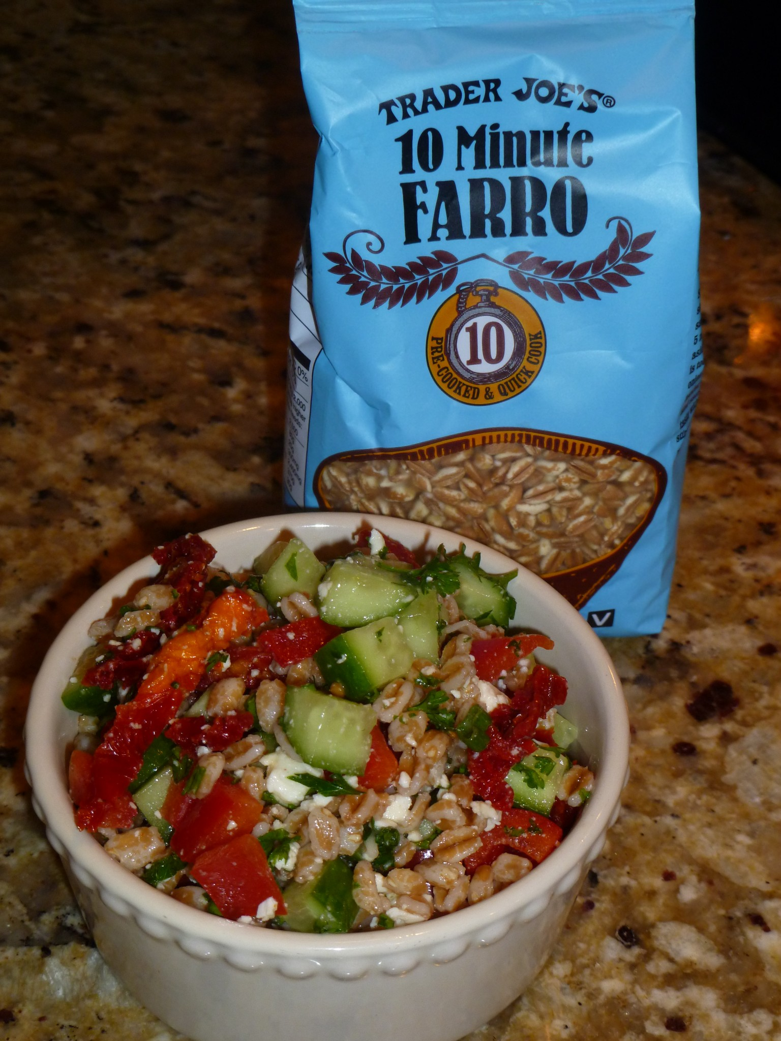 Farro with Cucumbers, Lemon, Feta, and Parsley | Live Well ...