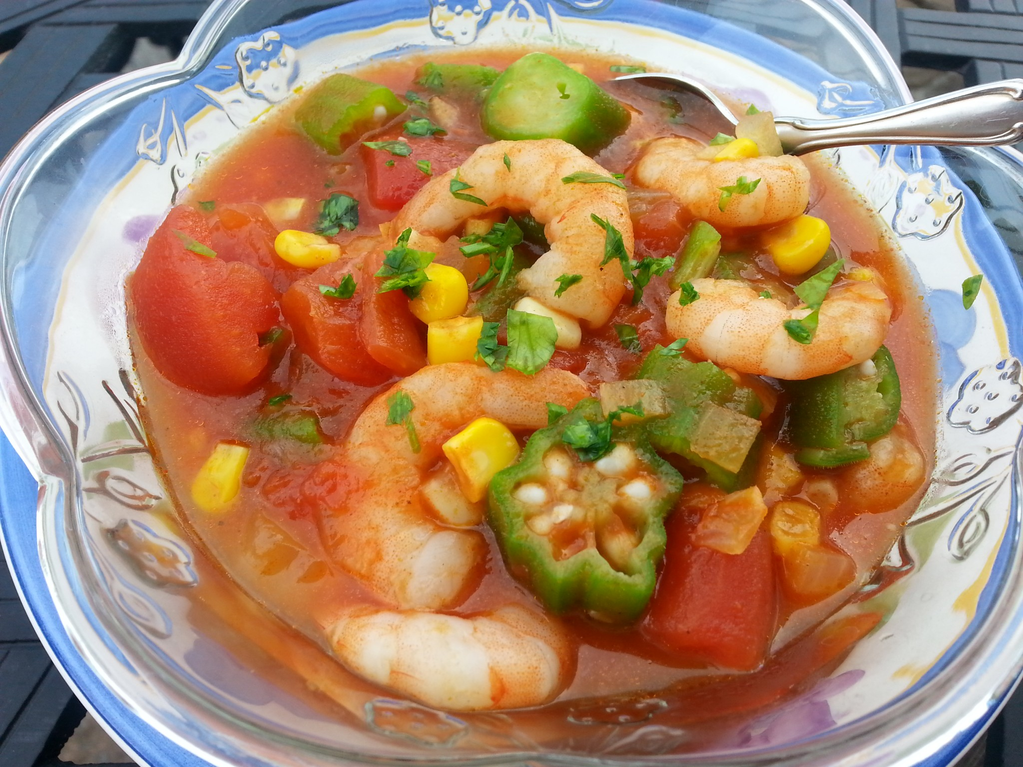 Shrimp Gumbo with Okra, Corn and Tomatoes over Brown Rice | Live Well ...