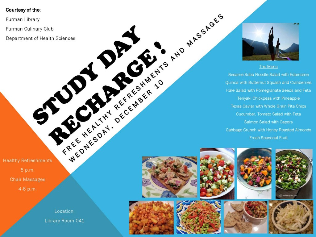 Study Day Recharge  Fall 2014