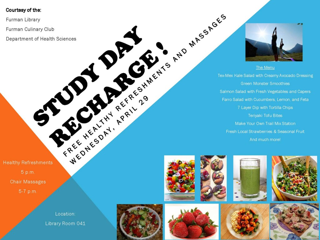 Study Day Recharge  Spring 2015