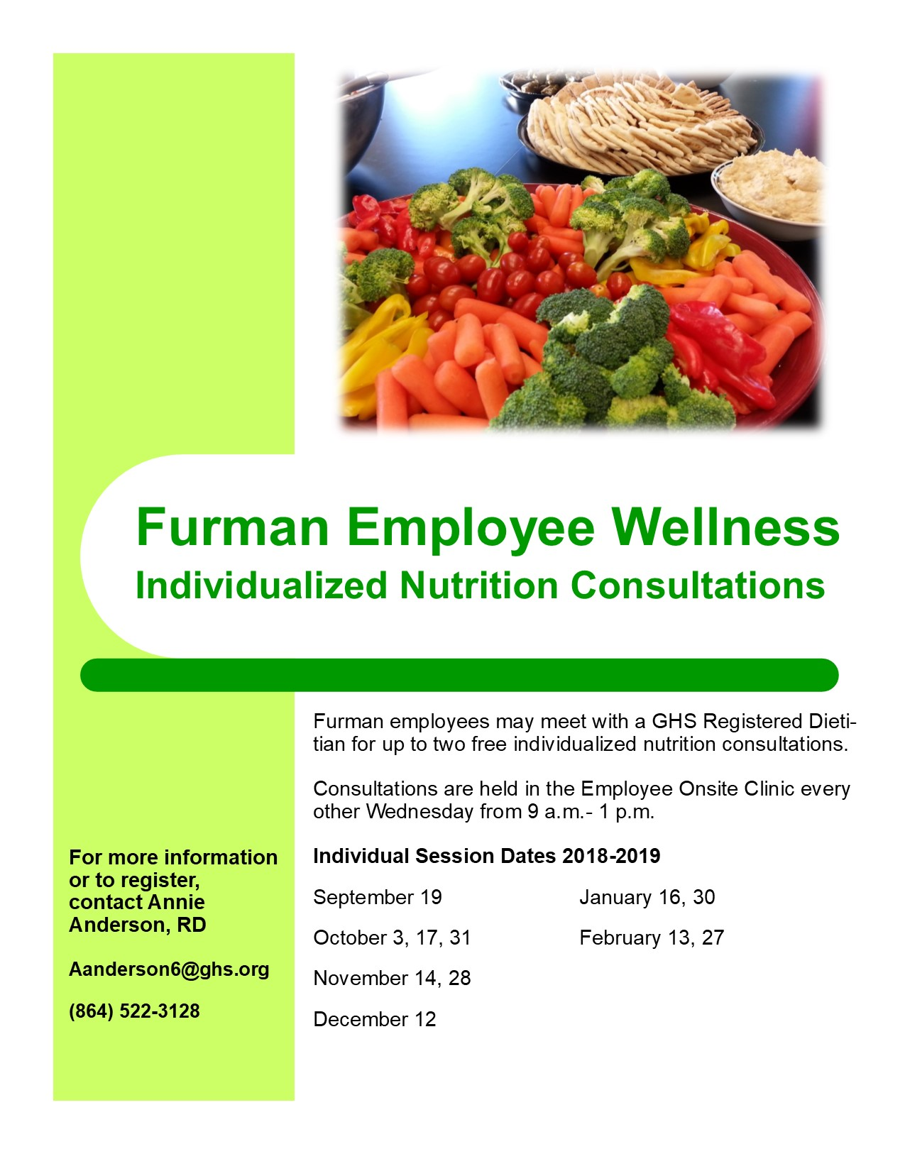 Free Nutrition Consultations for Furman Employees | Live