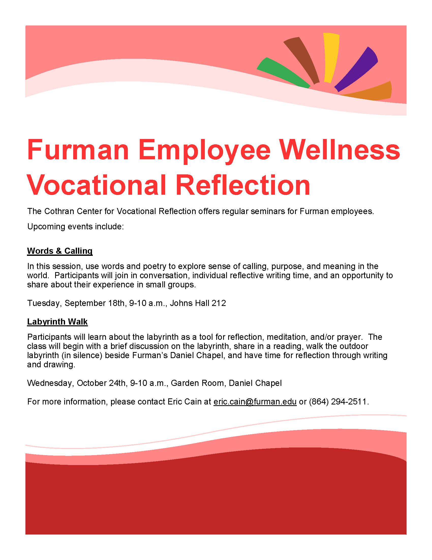 Cothran Center for Vocational Reflection | Live Well Furman