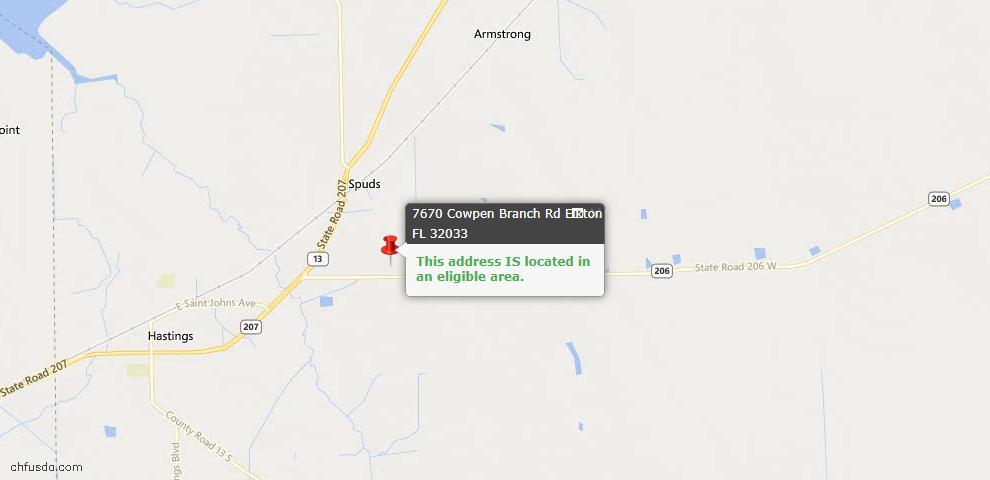 USDA Loan Eligiblity Maps From - Elkton, FL