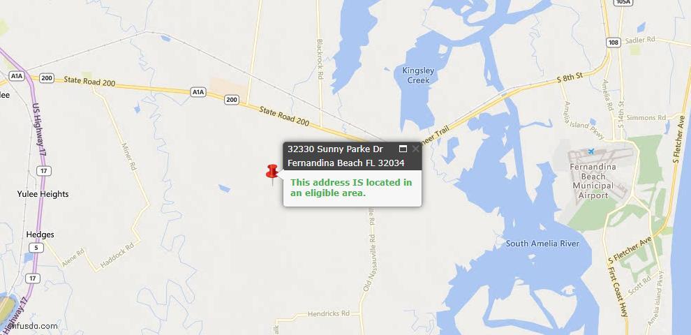 USDA Loan Eligiblity Maps From - Nassau County, FL