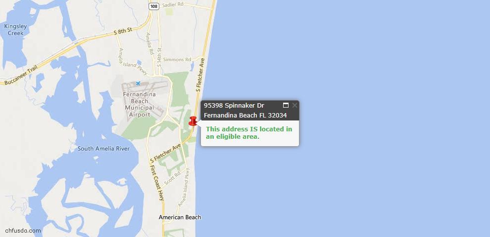 USDA Loan Eligiblity Maps From - Fernandina Beach, FL