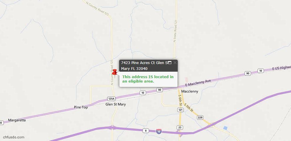 USDA Loan Eligiblity Maps From - Glen St. Mary, FL