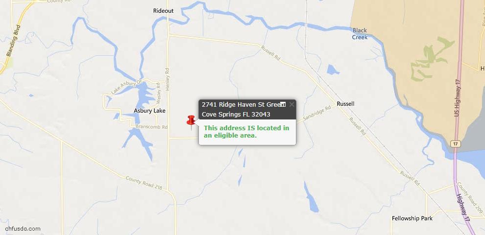 USDA Loan Eligiblity Maps From - Green Cove Spr, FL