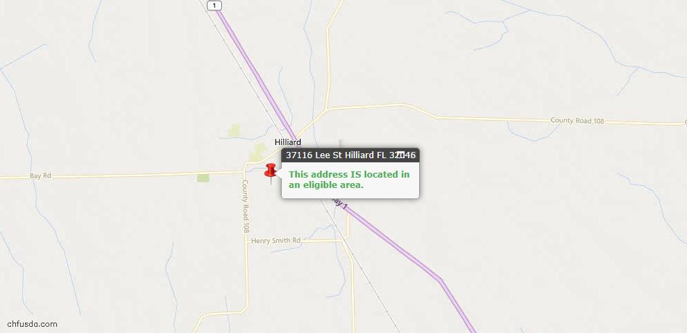 USDA Loan Eligiblity Maps From - Hilliard, FL