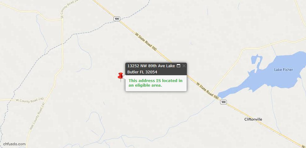 USDA Loan Eligiblity Maps From - Lake Butler, FL