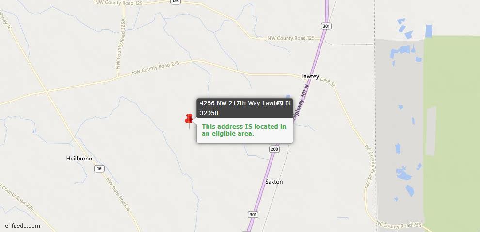 USDA Loan Eligiblity Maps From - Lawtey, FL