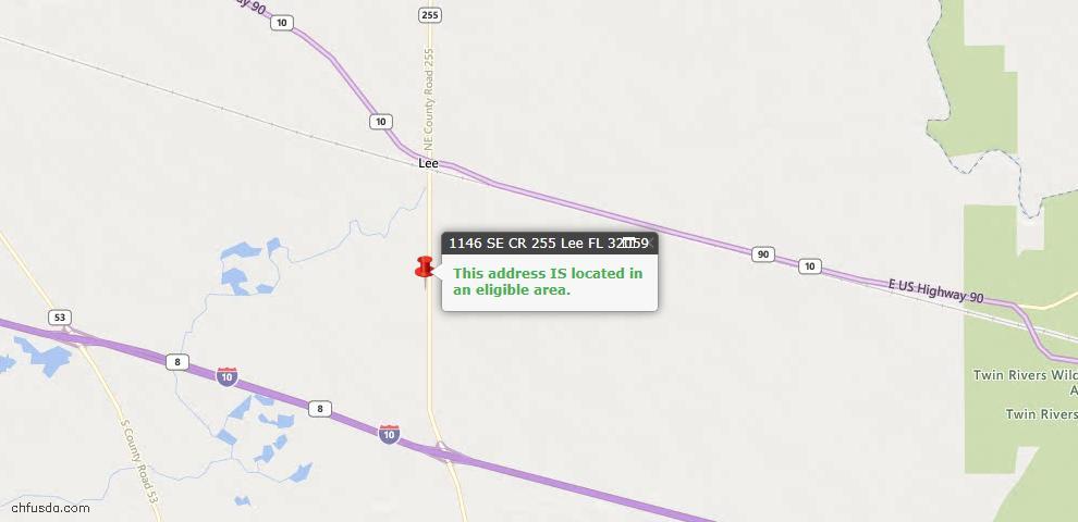 USDA Loan Eligiblity Maps From - Lee, FL