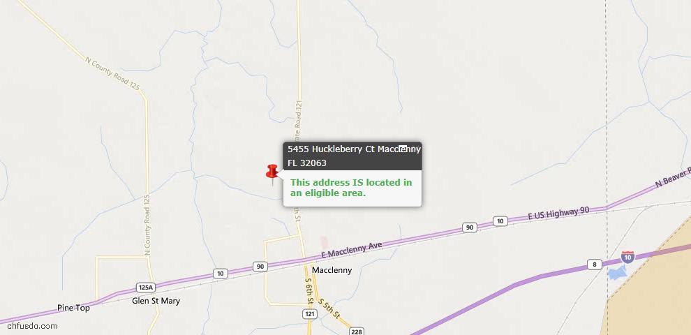 USDA Loan Eligiblity Maps From - Macclenny, FL