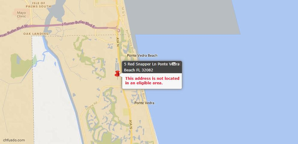 USDA Loan Eligiblity Maps From - St. Johns County, FL