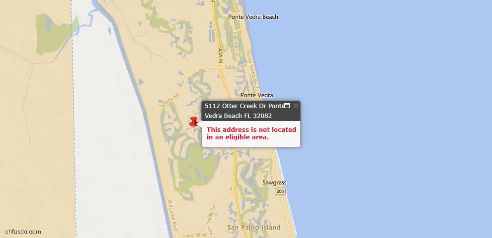 USDA Loan Eligiblity Maps From - Ponte Vedra Beach, FL