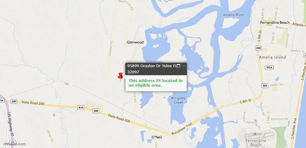 USDA Loan Eligiblity Maps From - Yulee, FL