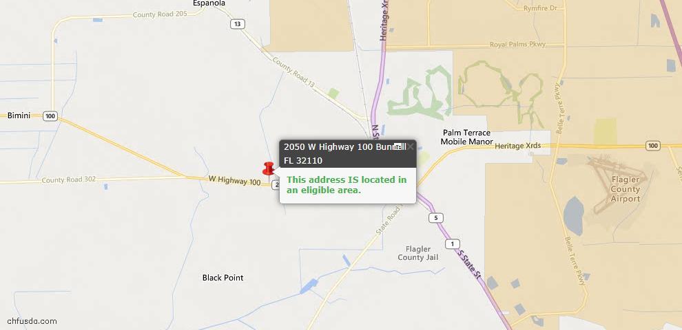 USDA Loan Eligiblity Maps From - Bunnell, FL