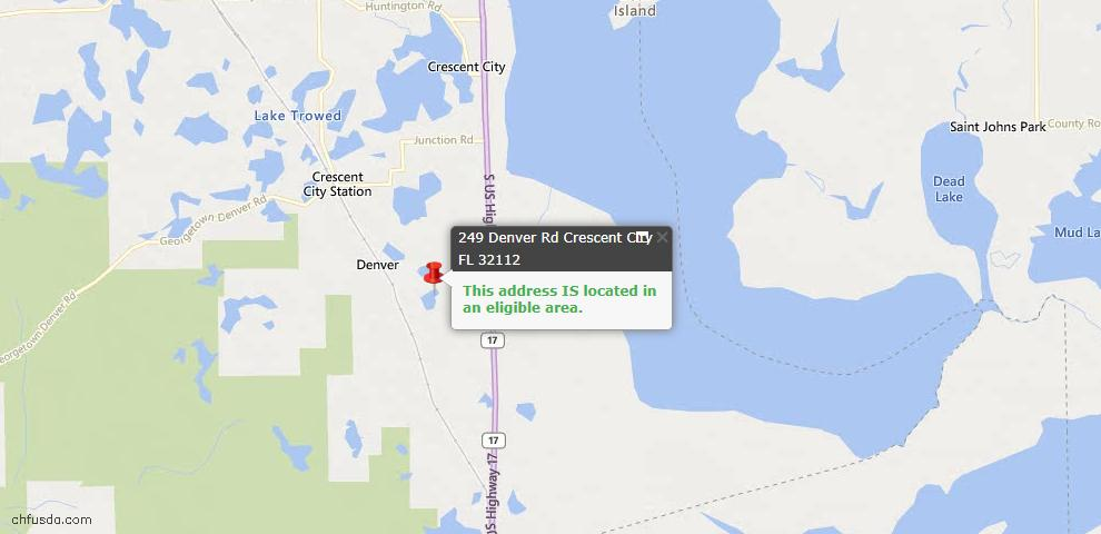 USDA Loan Eligiblity Maps From - Crescent City, FL