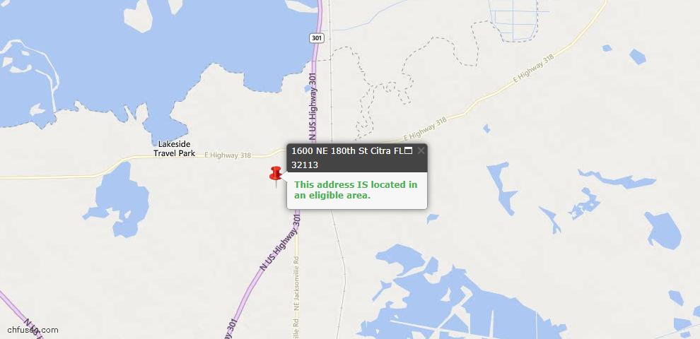 USDA Loan Eligiblity Maps From - Citra, FL