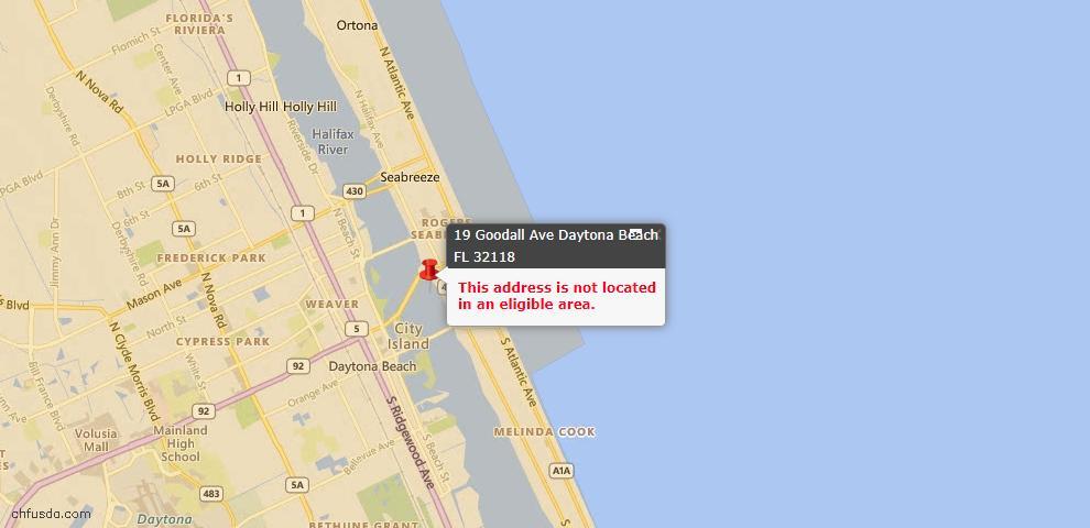 USDA Loan Eligiblity Maps From - Daytona Beach, FL