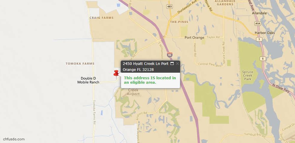 USDA Loan Eligiblity Maps From - Port Orange, FL