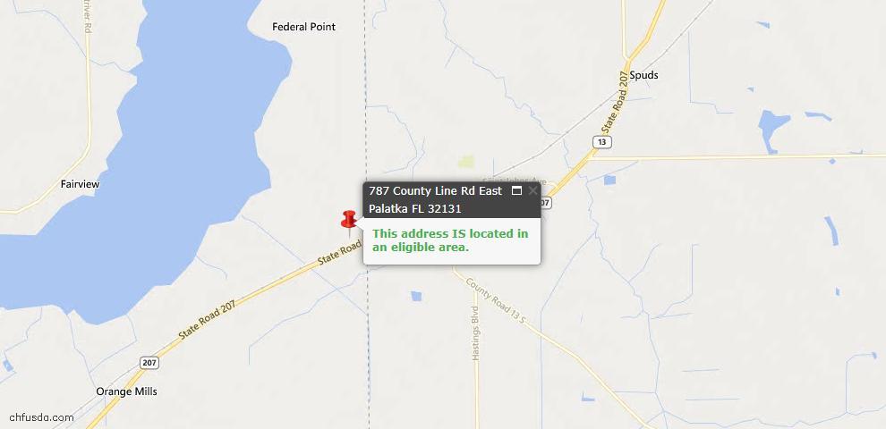 USDA Loan Eligiblity Maps From - East Palatka, FL