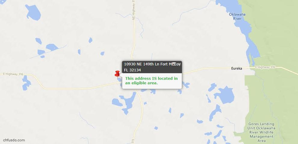 USDA Loan Eligiblity Maps From - Fort Mc Coy, FL