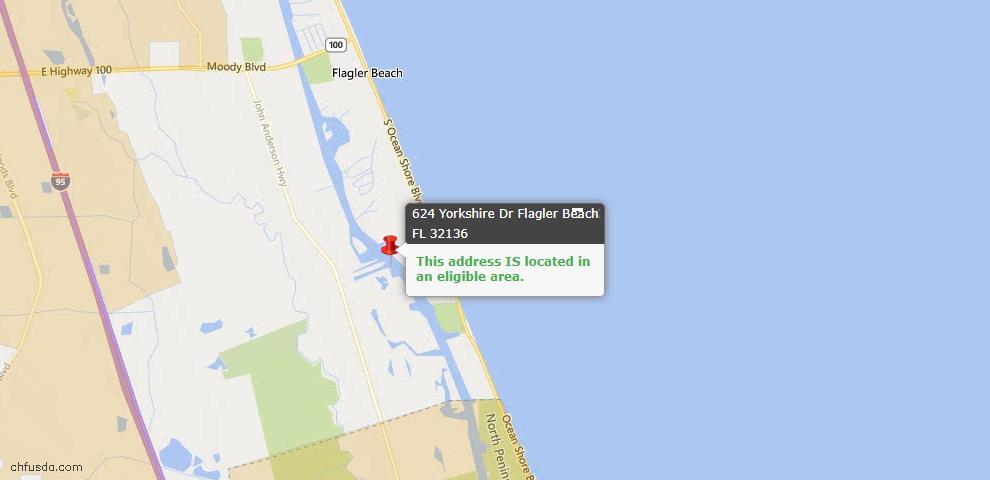 USDA Loan Eligiblity Maps From - Flagler Beach, FL