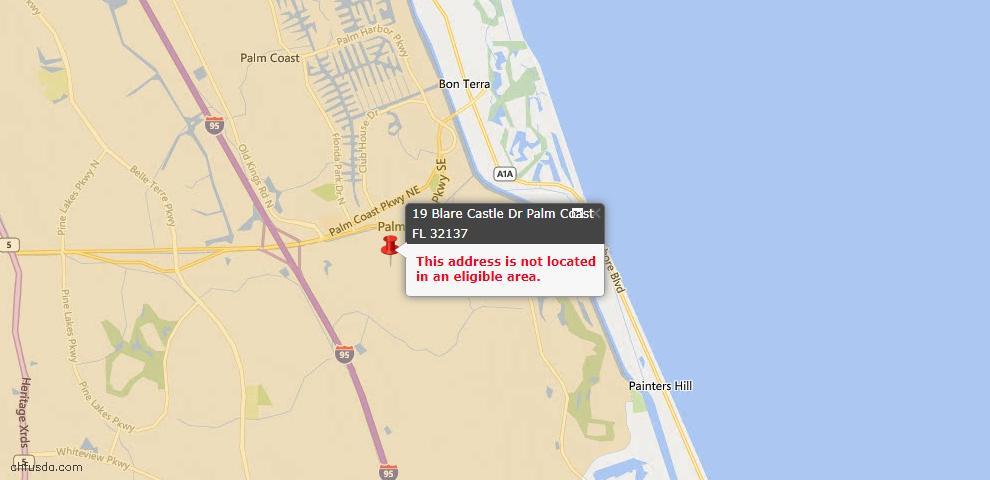 USDA Loan Eligiblity Maps From - Palm Coast, FL