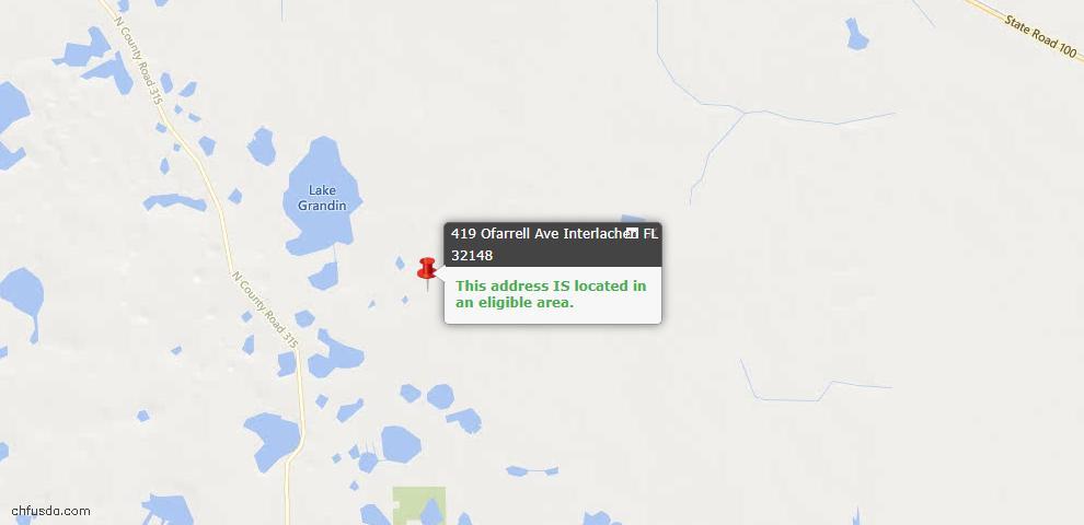 USDA Loan Eligiblity Maps From - Interlachen, FL