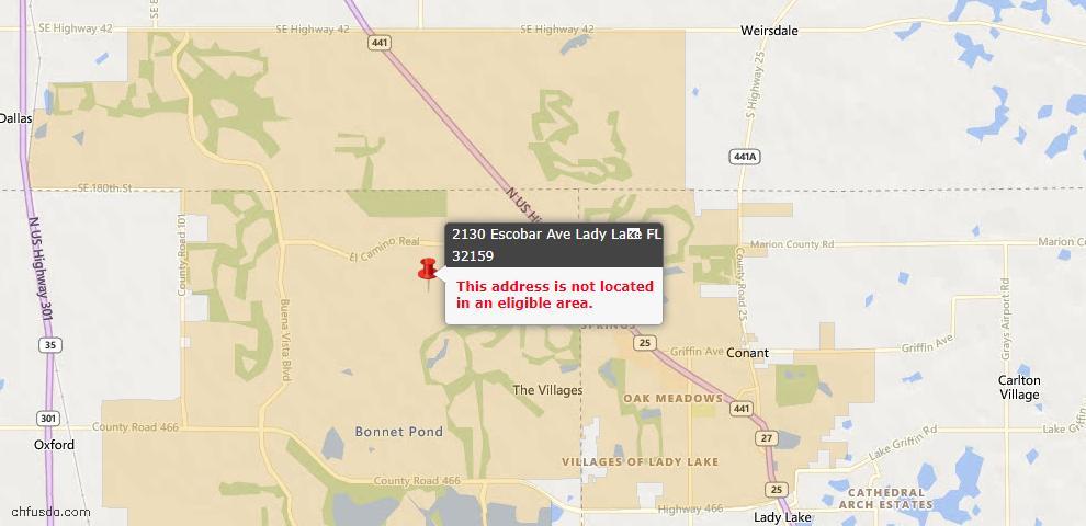 USDA Loan Eligiblity Maps From - Lady Lake, FL